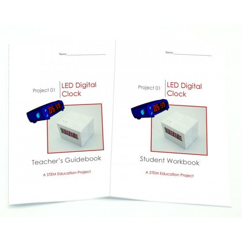 steam digital clock instruction books for students and teachers