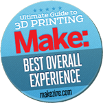 Up Plus 2 3d printer winner of the Make Magazine best print quality