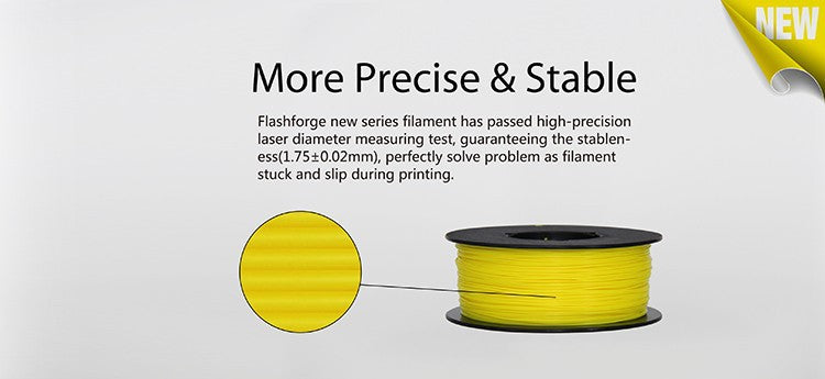 Flashforge Dreamer Filament has high precision manufacture