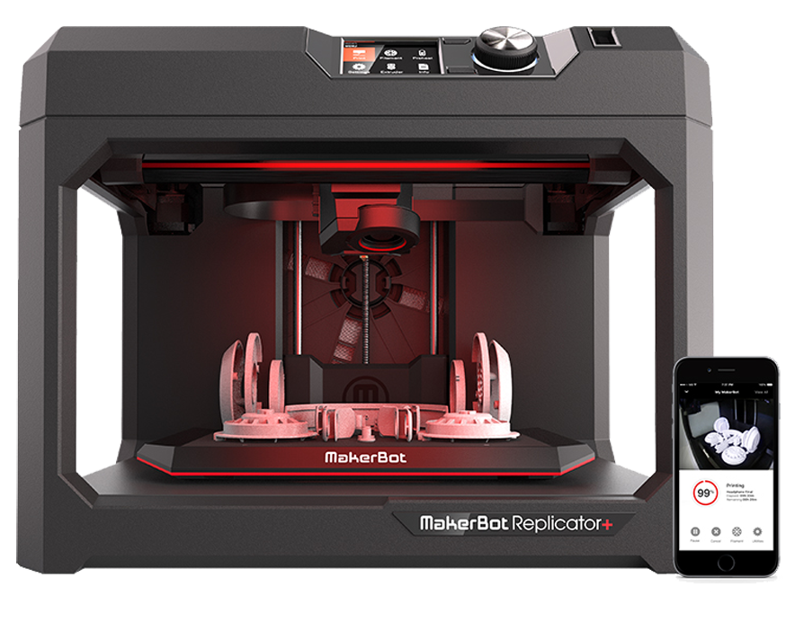 Makerbot 6th Gen Replicator+ with Makerbot Print Software App