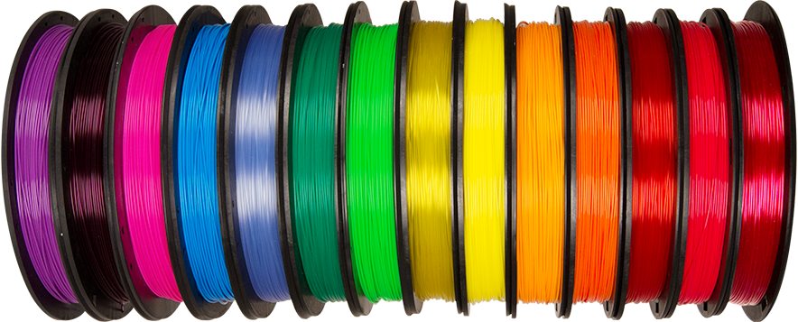 MakerBot Translucent PLA Filament Colour Range