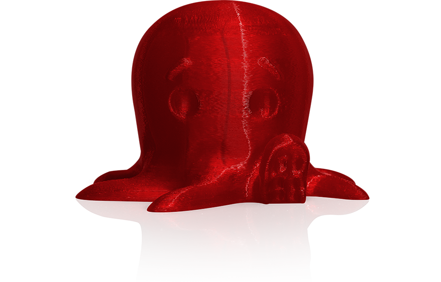 MakerBot Transulcent Red PLA FIlament Sample Print