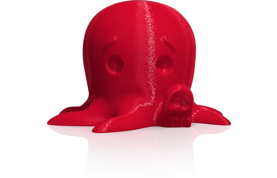 Makerbot True Colour PLA filament Print Sample In Red