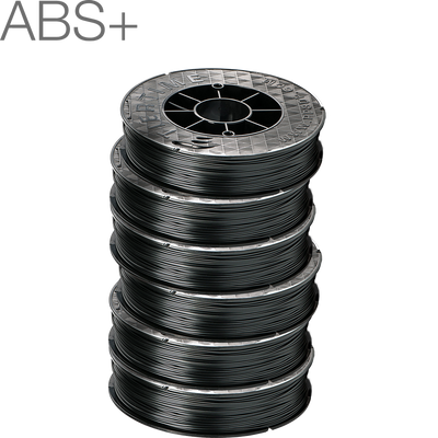 Up Fila ABS+ Premium Black 3D Printing Filament by Tiertime six pack 1.75mm