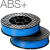 Up Fila ABS+ High Strength Blue 3D Printing Filament by Tiertime Twin Pack
