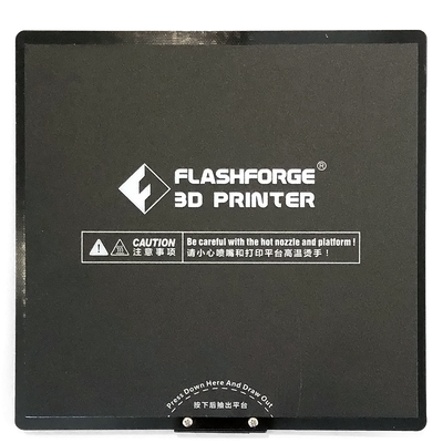 flashforge adventurer 3 III voxel 3d printer build plate flexible spring sheet front view