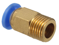 Copper Cap Fitting for 3D Printers with 4mm Tube and M10 Thread
