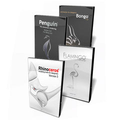 Rhino Flamingo Bongo Penguin Bundle