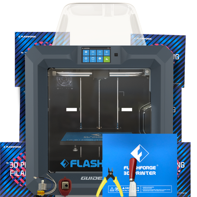 3Dprinter by Flashforge Guider 2 2s II IIs industrial engineering grade bundle with filament and tools