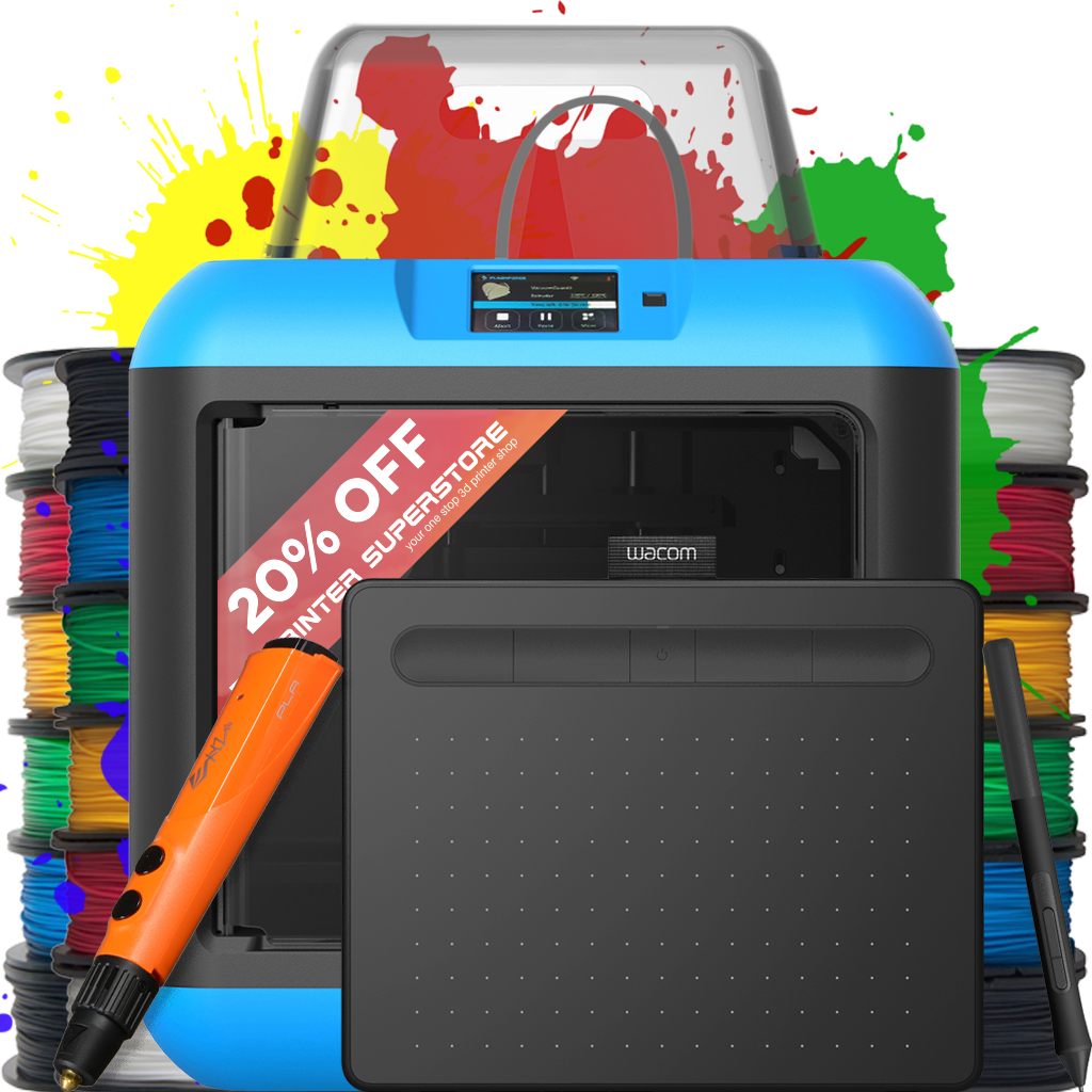 flashforge inventor 2 II s 2s IIs NEW 3d printer with air filtering art artist creative bundle collection education