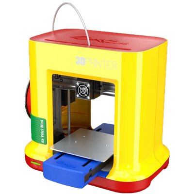 da vinci new miniMaker side view 3d printer for the home very easy to use