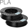 UP PLA filament by TierTime Black 500 gram twin pack