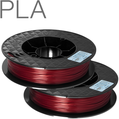 UP PLA filament by TierTime Burgundy Red 500 gram twin pack