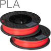 UP PLA filament by TierTime scarlet orange 500 gram twin pack