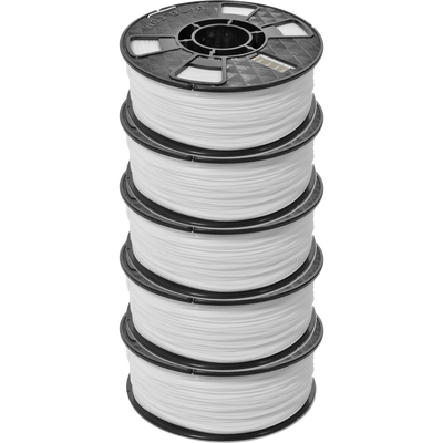 Up FIla ABS White 1kg pack of 5 1.75mm 3D Filament