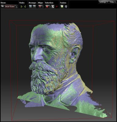 Automatic Alignment of 3D Scans for the David SLS-2 3d Scanner