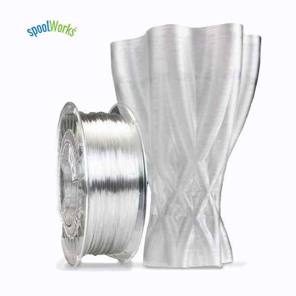 e3d edge filament 3d printer printing spool abs pla crystal clear