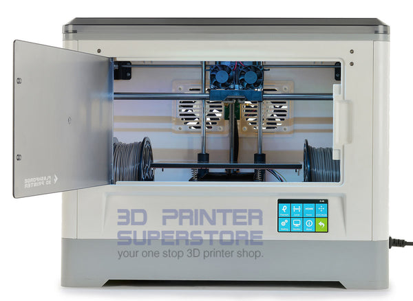 Flashforge Dreamer 3D Printer is WiFi enabled with enclosed build chamber.