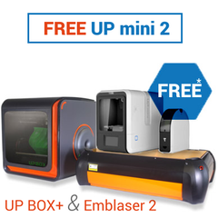 UP BOX+ Emblaser 2 with FREE Up Mini 2 BUNDLE (ex GST)