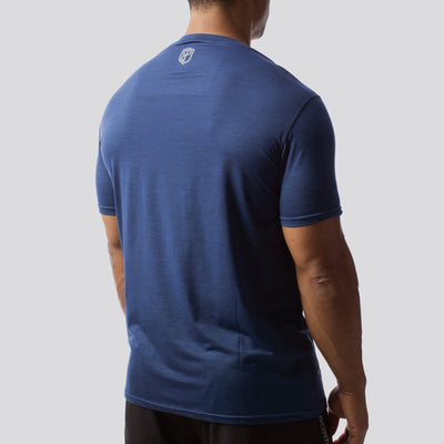 The Athleisure Tee (Navy Blue)