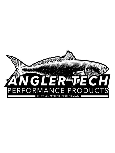 ANGLER TECH VINYL STICKER - BLACK
