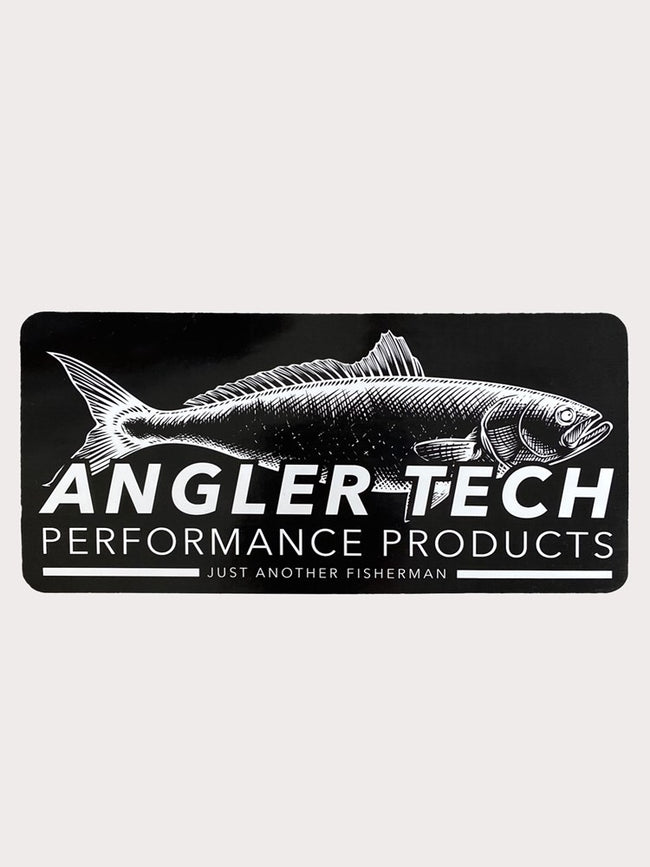 ANGLER TECH STICKER - BLACK