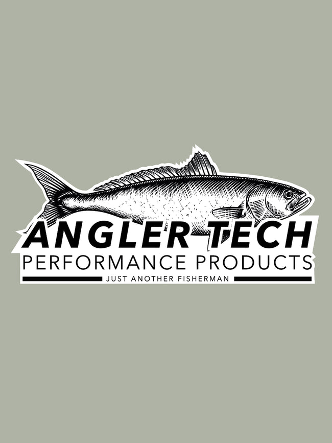 ANGLER TECH VINYL STICKER - WHITE