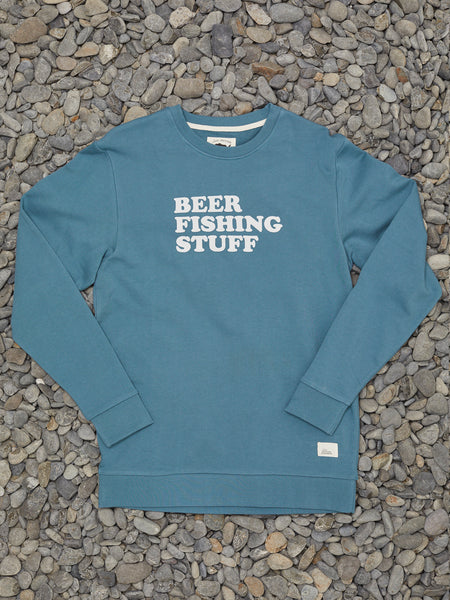 BEER FISHING STUFF CREW - TEAL