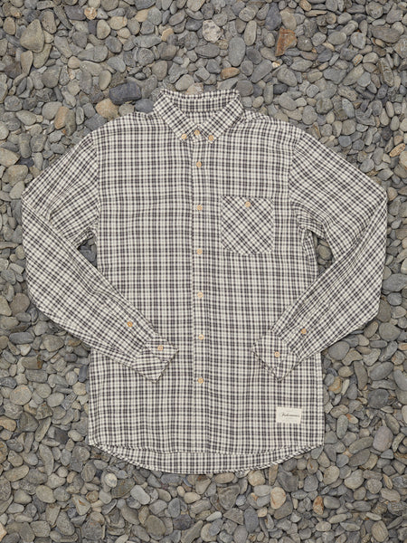 BOATYARD SHIRT - GREY/CREAM CHECK