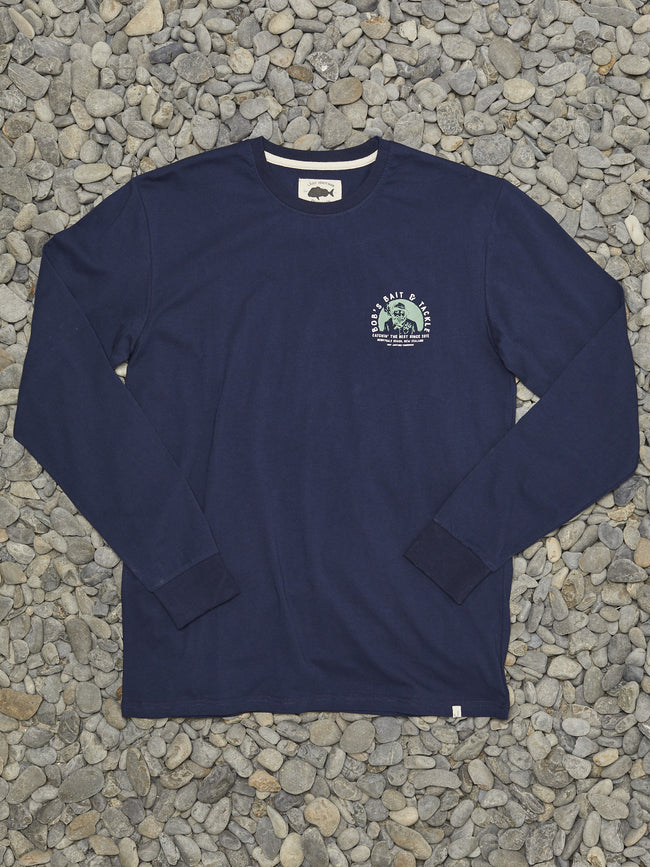 BOBS BAIT AND TACKLE LS TEE - NAVY
