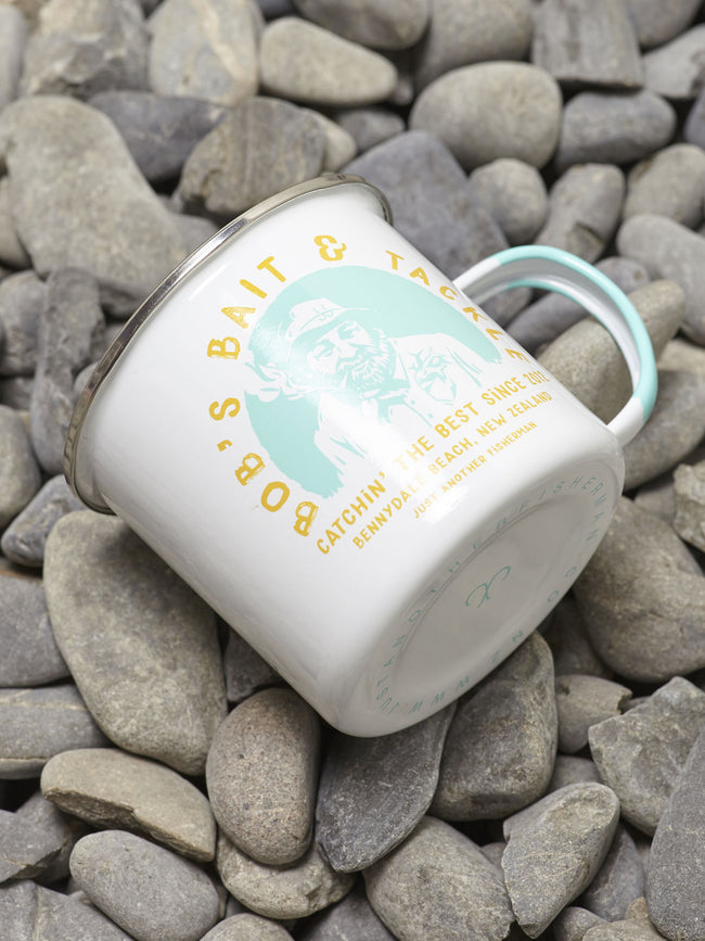 BOBS BAIT AND TACKLE MUG - WHITE