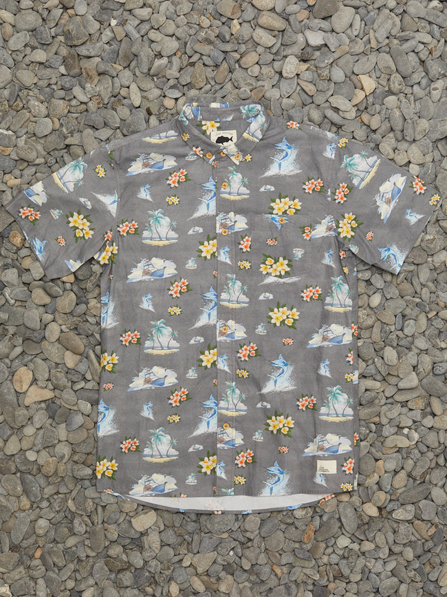 FLORAL MARLIN SHIRT - GREY