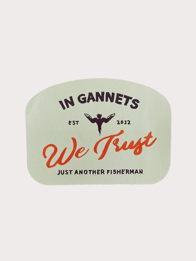 IN GANETS WE TRUST STICKER - STONE