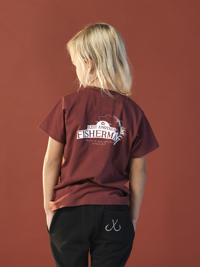 MINI SALTED IN NZ TEE - MAROON