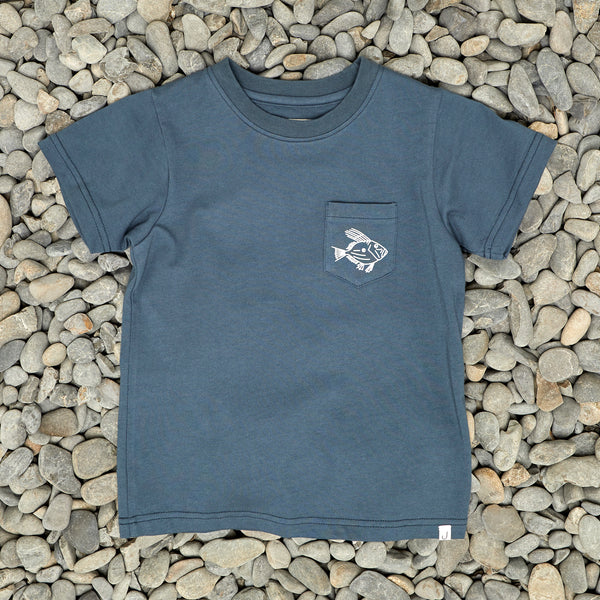 LITTLE DORY TEE - NAVY