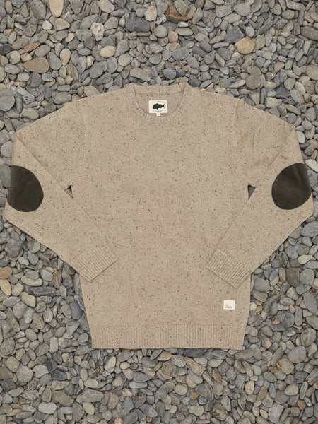 LS KNITMAN CREW - TAN SPECKLE