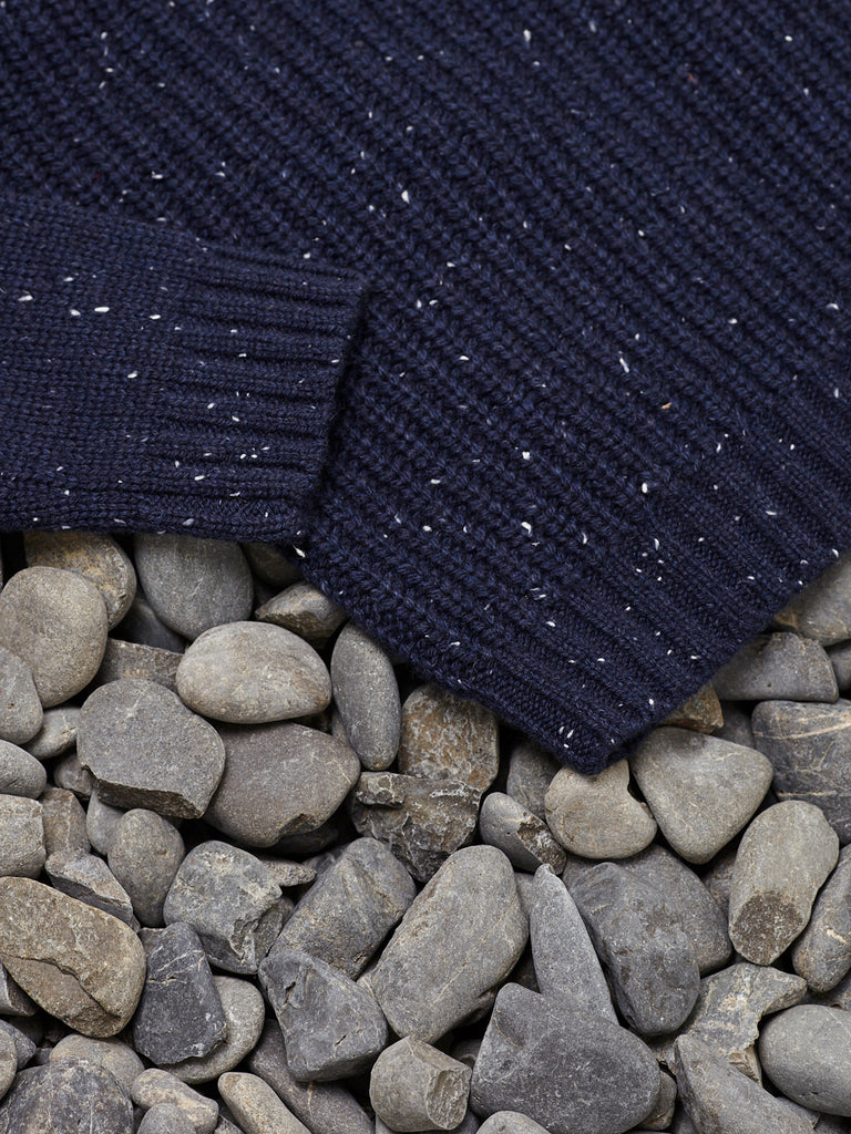 MINI FISH RIB CREW - NAVY SPECKLE