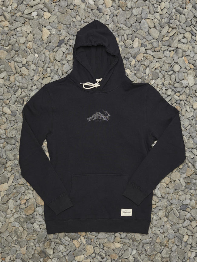 SALTED IN NZ HOOD - BLACK