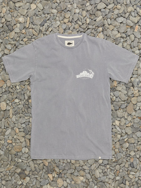 SALTED IN NZ TEE - SLATE GREY