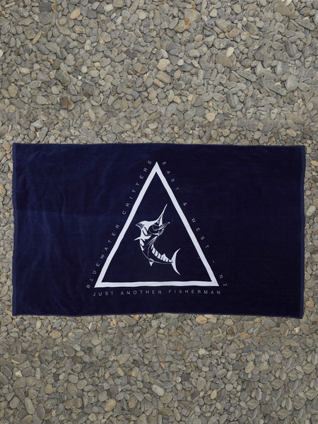ANGLED MARLIN TOWEL - NAVY