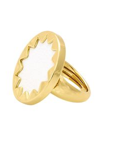 Mini sunburst ring