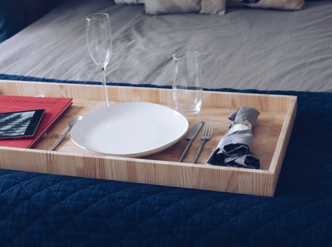 Wooden tray, custom woodworking, interior design