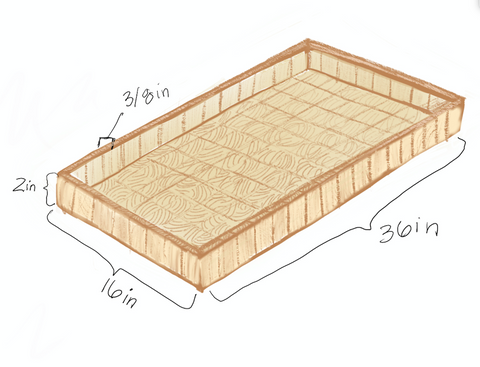 sketch of wood tray