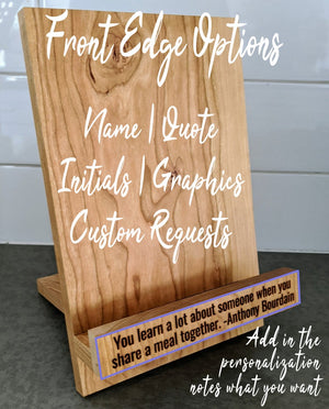 Cookbook Stand - Personalized Gift