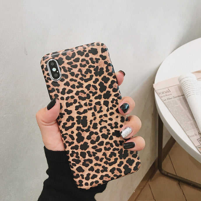 Leopard Print Pattern Soft Rubber Case Cover Apple iPhone X, XS, XR, or XS Max - BingBongBoom
