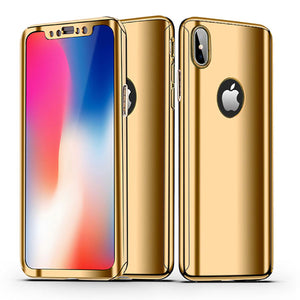 360° Plating Phone Case Slim Mirror Full Coverage Apple iPhone X, XS, XR, or XS Max - BingBongBoom