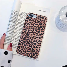 Load image into Gallery viewer, Leopard Print Pattern Wildcat Series Soft Rubber Case Cover Apple iPhone 7 or 7 Plus - BingBongBoom