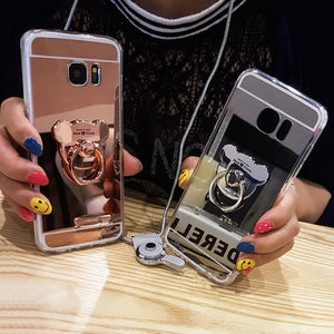 Bear Ring Loop Stand Soft Rubber Case Cover Samsung Galaxy S9 or S9 Plus - BingBongBoom