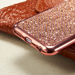 Glitter Bling Diamond Soft Rubber Case Cover Apple iPhone 7 or 7 Plus - BingBongBoom