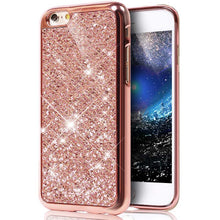 Load image into Gallery viewer, Glitter Bling Diamond Soft Rubber Case Cover Apple iPhone 7 or 7 Plus - BingBongBoom